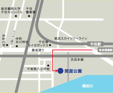 関屋公園map