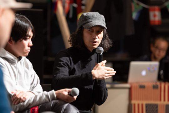 後藤寿和さん。2019年1月に開催した千住タウンレーベルの<デモ音源発表会>にて撮影。